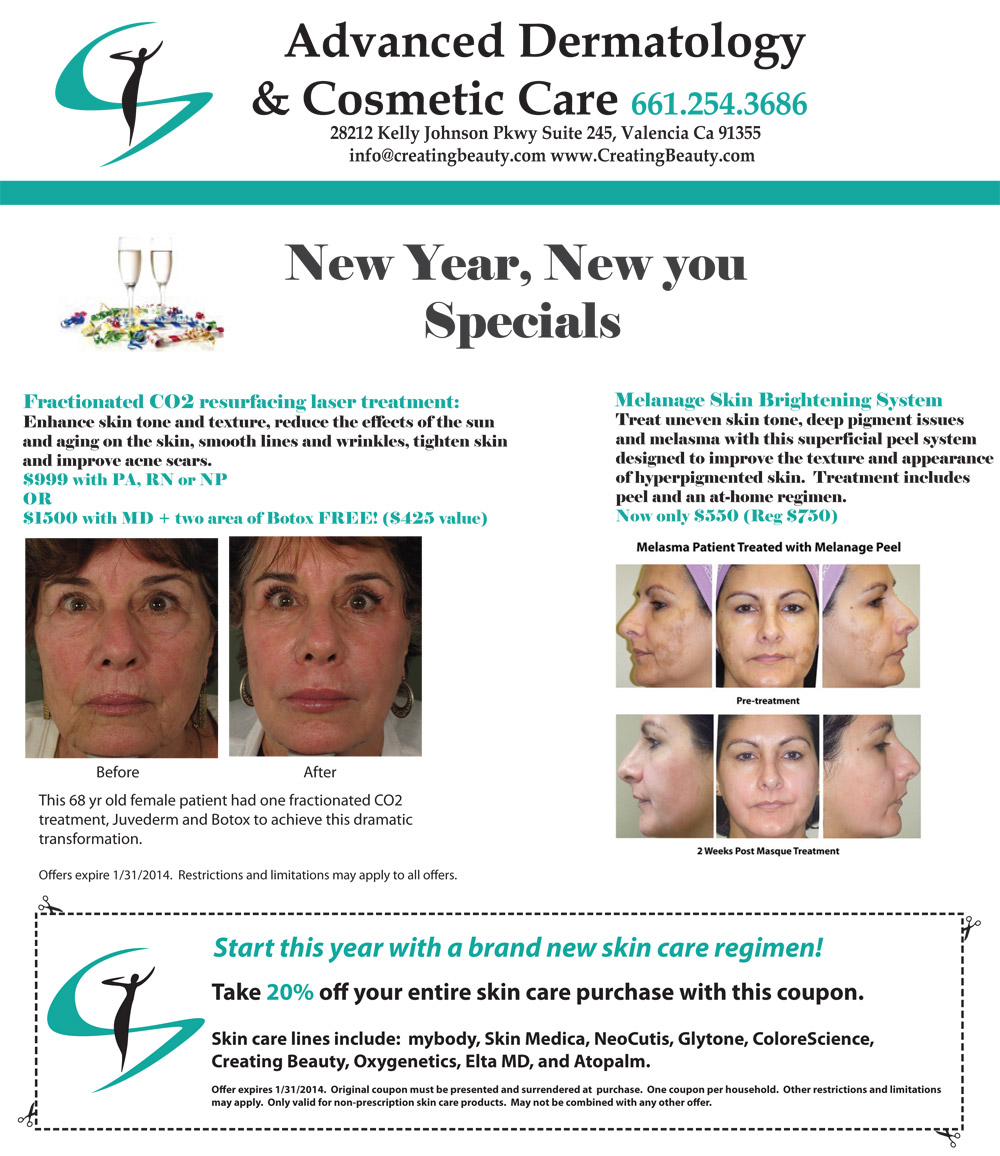 dermatology specials january 2014